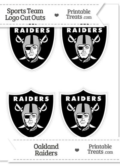 Small Oakland Raiders Logo Cut Outs from PrintableTreats.com