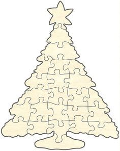 Superb Christmas Tree Puzzle By ValecraftGifts On Etsy. See More. Blankopuzzle  Christbaum,