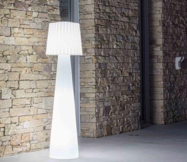 Outdoor Stehleuchte Lady Designer Stehlampe Fur Balkon Terrasse Garten Weiss Stehlampe Lampe Stehlampe Weiss