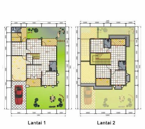 denah rumah type 70 2 lantai (dengan gambar)   denah rumah