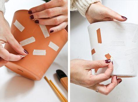 DIY – Pinta tus macetas de barro o de plástico para darles un aire nórdico | delikatissen