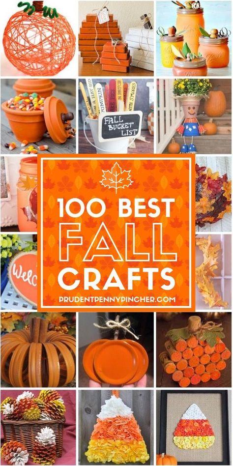 100 Best Fall Crafts for Adults Diy Fall Crafts fall diy crafts to sell Pot Mason Diy, Mason Jar Crafts, Bottle Crafts, Fall Mason Jars, Diy Crafts For Kids, Fun Crafts, Craft Ideas, Decor Crafts, Kids Diy
