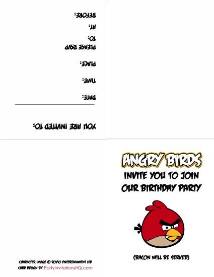 angry birds invation free printable angry birds birthday - birthday invitations free download