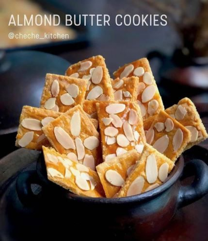 Resep Cookies Almond C 2020 Brilio Net Kue Kering Mentega Makanan Cemilan