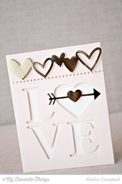 Love Centerpieces Die-namics, Staggered Heart Border Die-namics, Straight to My Heart Die-namics - Keisha Campbell #mftstamps