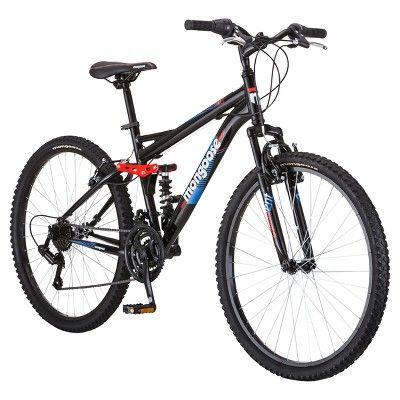 Mongoose Men S Standoff 26 Mountain Bike Black Red 26