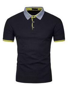 US BASIC Camiseta de rugby negra para hombre con cuello