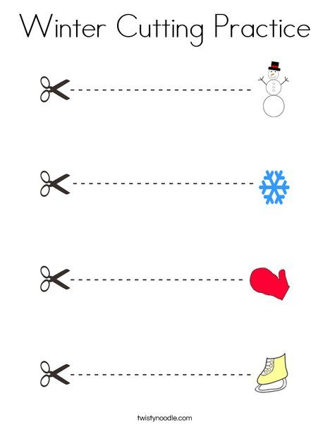Pin On Winter Is Here Practice cutting worksheet for preschool
