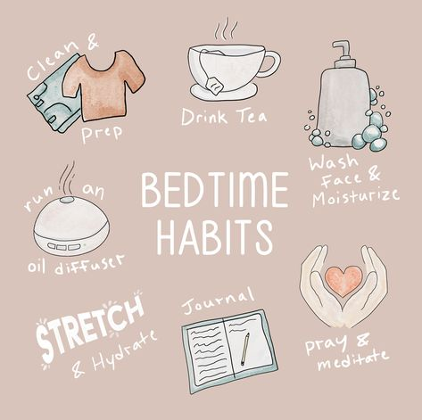 Self Care Bullet Journal, Healthy Nights, Vie Positive, Night Time Routine, Morning Yoga Routine, Evening Routine, Self Care Activities, Self Improvement Tips, Self Care Routine