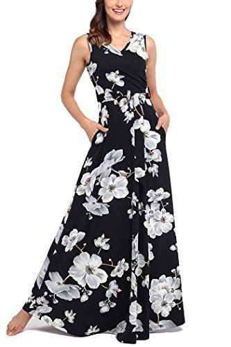 Comila Women S Summer V Neck Floral Maxi Dress Casual Long Dresses With Pockets Long Dress Casual Maxi Dresses Casual Casual Dresses