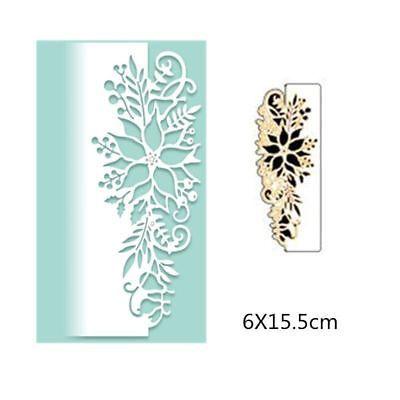 Style Lace Halloween Christmas Dies Metal Cutting Dies  scrapbooking 5.2X15.5 cm