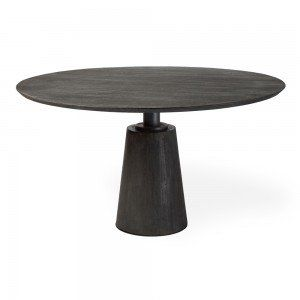 Maxwell Industrial Chic Dining Table With Images Industrial Chic Furniture Dining Table Black Round Dining Table