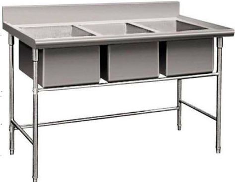 3 Compartment Commercial Stainless Steel Triple Sink Wash Basin Table Commercial Stainless Steel Sink Wash Basin Stainless Steel Sinks