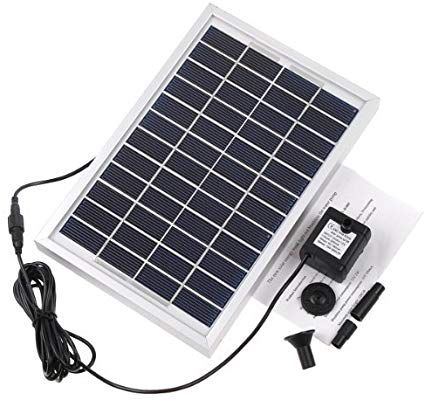 Amazon com : RivenAn 12V 5W Solar Pump, Solar Power Panel