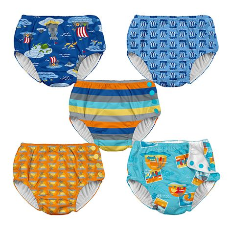 Baby Toddler Ultimate Reusable Absorbent  Snap Swim Diaper i play