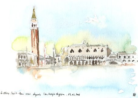 Carnet De Voyage A Venise Aquarelle Et Dessin Voyage A Venise