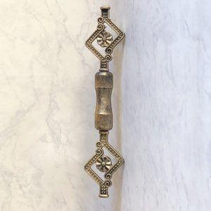 ドアノブ レバーハンドル プルハンドル おしゃれ 取っ手 アイアン アンティーク調ゴールドカラー 銀の時計 ゴールド カラー