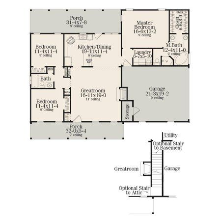 Thehousedesigners 5458 Construction Ready Small Ranch House Plan With Crawl Space Foundation 5 Printed Sets Walmart Com In 2020 Ranch House Plan House Plans Crawl Space Foundation