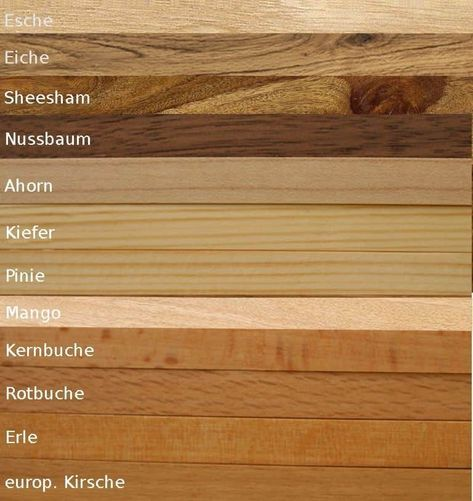 Holzarten Richtig Kombinieren Holzarten Holz