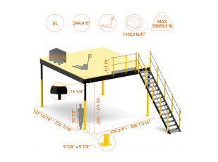 Kit Txl 32 Mezzanine Mezzanine Floor Flooring Construction Work