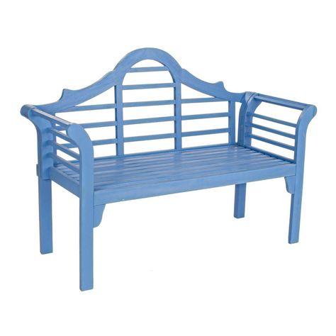 Panchina Legno Azzurro Anticato Panchine Sedie Da Giardino Legno