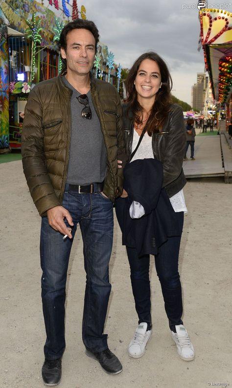 Anthony et sa demi-soeur Anouchka Delon - Ouverture de la fête des Tuileries à Paris, le 27 juin 2014.