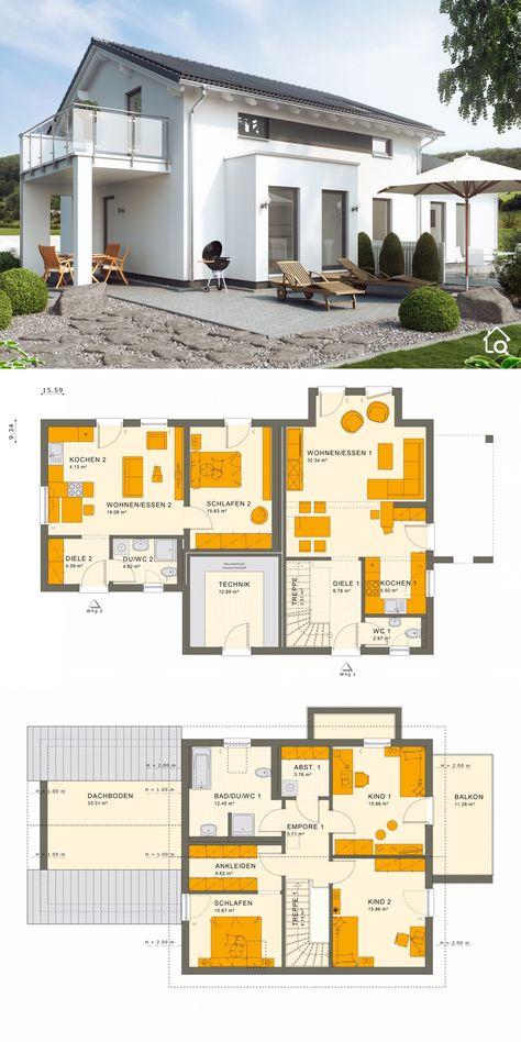 Einfamilienhaus Mit Einliegerwohnung 2 Zimmer Grundriss Im