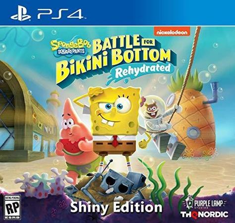 THQ Nordic Spongebob Squarepants: Battle for Bikini Bottom - Rehydrated - PlayStation 4 / Shiny Edition