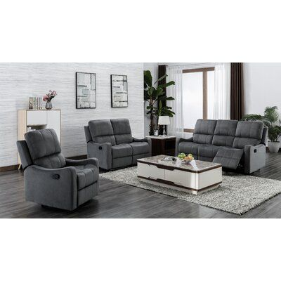 Red Barrel Studio Land 3 Piece Reclining Living Room Set Wayfair Ca In 2020 Living Room Seating Living Room Decor Country Farmhouse Living Room Furniture