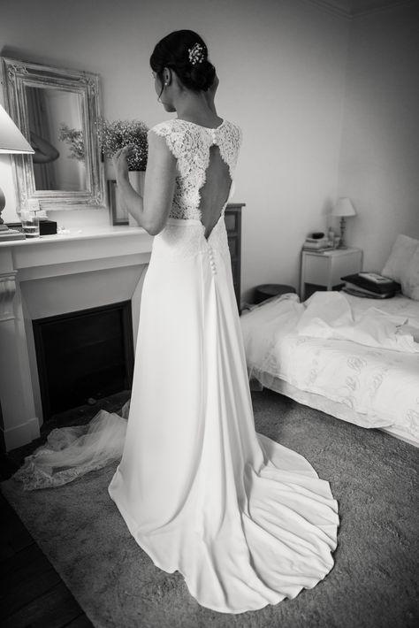 Robe de mariée Constance Fournier I Camille, mariée en 2016