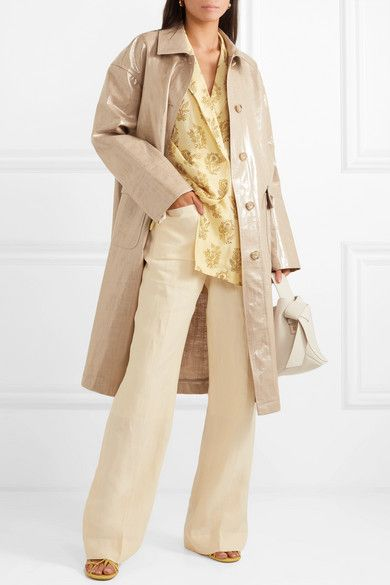 15313d29 STAND - Debbie oversized coated linen and cotton-blend coat in 2019 ...