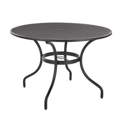 Hampton Bay 42 In Mix And Match Black Mesh Metal Round Outdoor