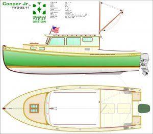Cooper Jr Ryd 22 11 Boat Building Plans Model Boats Wooden Boat Plans