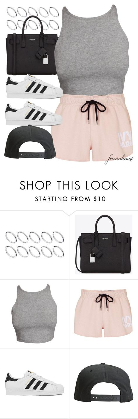 """""""Untitled #748"""" by foreverdreamt ❤ liked on Polyvore featuring ASOS, Yves Saint Laurent, Topshop, adidas and Tavik Swimwear"""