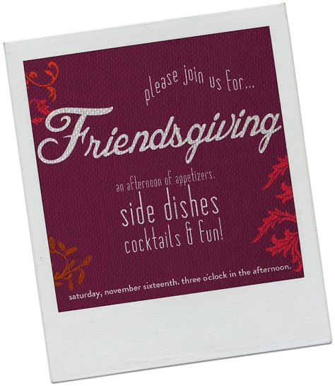 A Friendsgiving Party invitation #partycrafters #friendsgiving #thanksgiving