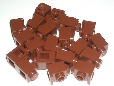 Lego 10 Reddish Brown 2x1 inverted brick block Slopes NEW