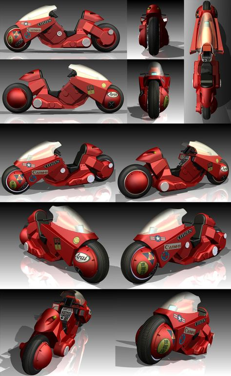 Kaneda's Motorcycle from Manga movie AKIRA. This was for a school project using a Parametric CAD Modeling software called Inventor by AutoDesk. Based on the McFarlane Toys model so not