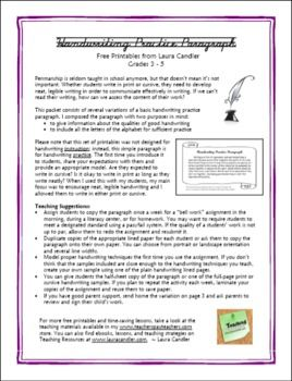 Handwriting practice activity free from Laura Candler