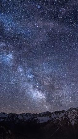 Bad Hindelang 4k Hd Wallpaper Germany Stars Night Mountains Nebula Milky Way Vertical Nature Hd Hd Wallpaper Amazing Nature