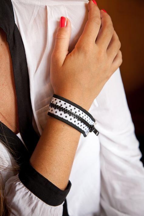 Dotty Cuff Bracelet- From a Zipper!   Sewing Secrets - A Blog by Coats & Clark