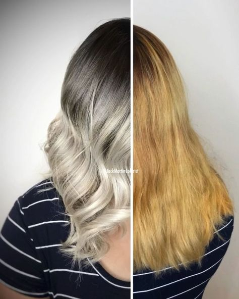 #ashy #Blonde #Brassy #Check #detailed #formula #link #orange #silver hair highlights videos #TRANSFORMATION Brassy Orange to ashy blonde transformation. Check the link for how it's done and detailed formula.         Total service time for this transformation was 8 hours.