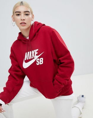 como serch bien baratas hermoso estilo Nike Sb – Roter Kapuzenpullover mit Swoosh-Logo | Fashion en ...