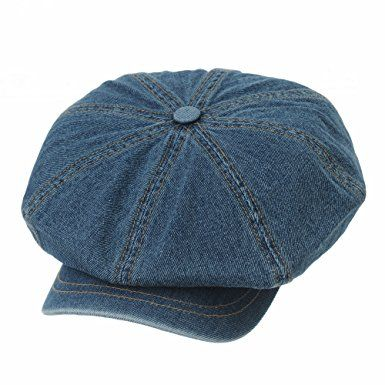 WITHMOONS Faux Leather Newsboy Hat Flat Cap SL3018