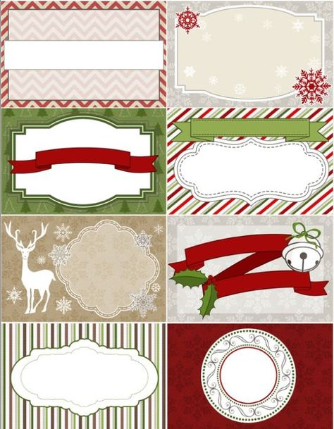 Christmas Labels 550with Blank Etiquettes Noel