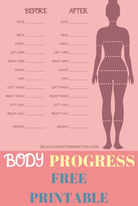 Progress does not always show on the scale! Sometimes the biggest differences are made in inches shed across the body. Track your progress with this free printable PDF. Track before and after progr… Weight Measurement Chart, Body Measurement Tracker, Weight Charts For Women, Weight Loss For Women, Fitness Journal, Fitness Planner, Body Chart, Weight Loss Chart, Body Contouring