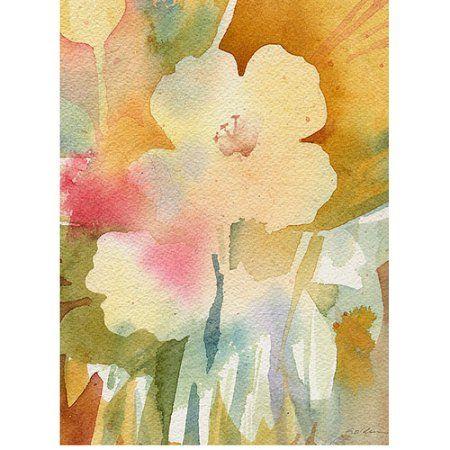 Trademark Art Ochre Garden View Canvas Wall Art by Shelia Golden ...