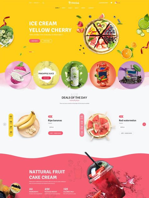 Food & Restaurants Website Templates : Web Design Lead Gen