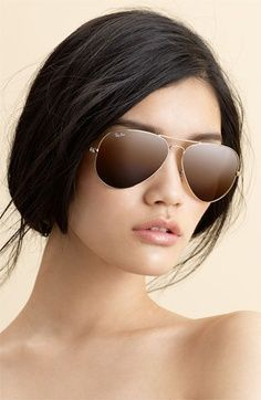 ray ban aviator oversized sunglasses