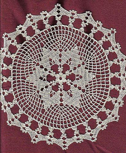 Z421 Filet Crochet PATTERN ONLY Elephant Doily Square Pattern ... | 500x411