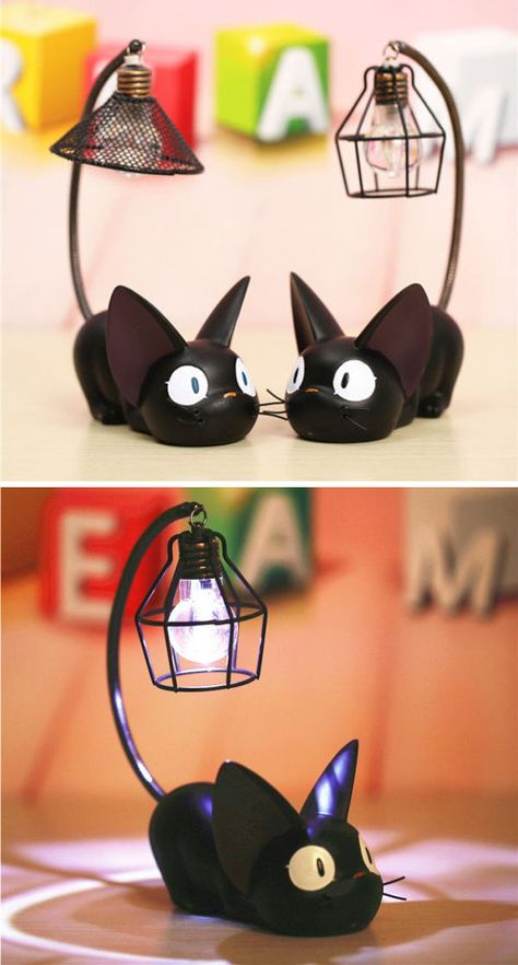 Kiki's Delivery Service Jiji Lamp! Kiki's Delivery Service Jiji Lamp! Kiki Delivery, Kiki's Delivery Service, Anime Merchandise, Diy Décoration, Cat Supplies, Resin Crafts, Studio Ghibli, Totoro, Cool Ideas